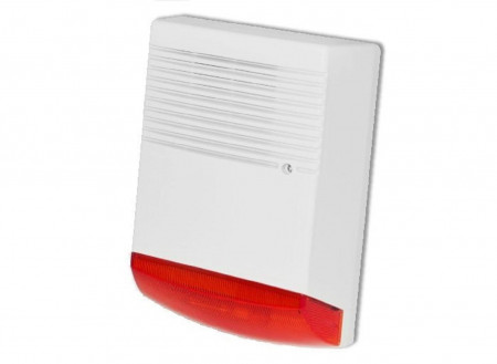 Sirena de exterior cu flash BS-OS359; ABS Housing Water proof: IP55 Inside Metal - BS-OS359