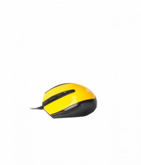Mouse optic Serioux Pastel 3300, USB, Galben - PMO3300-YE