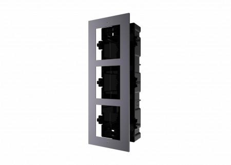 Panou frontal pentru 3 module videointerfon modular Hikvision DS-KD-ACF3; permit - DS-KD-ACF3