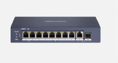 Switch 8 porturi POE Gigabit, Hikvision DS-3E0510HP-E, fara management, 6 × gig - DS-3E0510HP-E