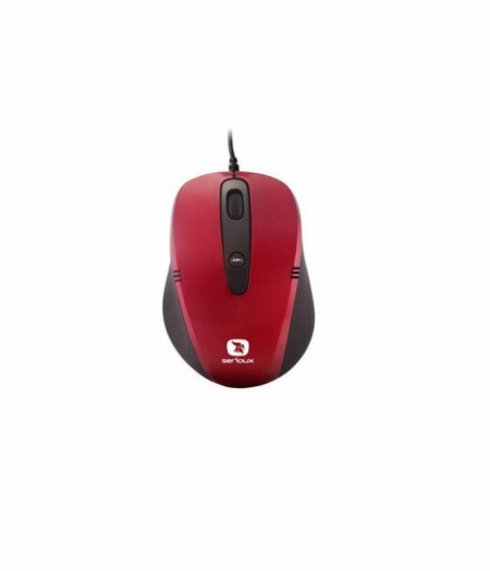Mouse optic Serioux Pastel 3300, USB, Rosu - PMO3300-RD