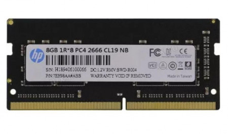 Memorie Laptop HP S1 Series, 8GB DDR4, 2666MHz CL19 - 7EH98AA#ABB