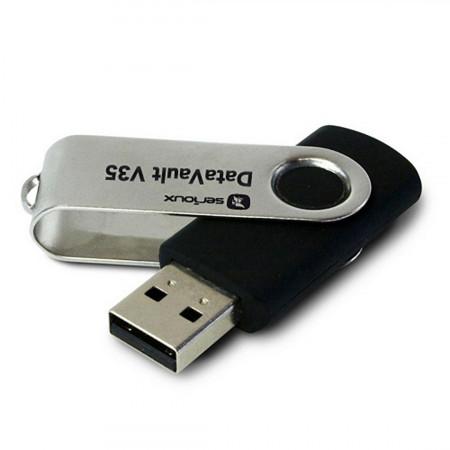 Memorie USB Serioux DataVault V35, 128GB, USB 3.0, Negru - SFUD128V35