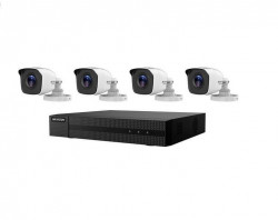 Kit supraveghere video Hikvision HiWatch Series HWK-T4142BH-MP, 4 camere 1MP HWT-B110-P, DVR HWD-6104MH-G2(B) 1buc, HDD 1 TB 1buc - HWK-T4142BH-MP