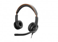Casti cu microfon Axtel Voice 40 duo NC, sunet HD, microfon flexibil, sistem anulare zgomot ambiental, garantie 24 de luni. QD plug - AXH-V40D