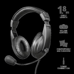 Casti cu microfon Trust Quasar Headset for PC and laptop Specifications General - TR-21661