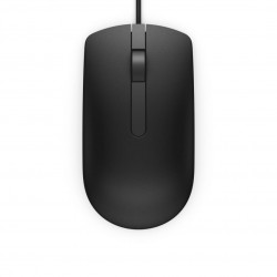 Dell Mouse MS116 3 buttons, wired, 1000 dpi, USB conectivity, Color:Black - 570-AAIR