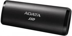 SSD extern ADATA SE760 metal, 512GB Type-C, up to 1000MB/s, multiplatform, cable Type-C-C, cable Type-C-A, Negru - ASE760-512GU32G2BK