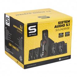 Boxe 5.1 Serioux SoundRise, 105W, Negru - SRXS-51105W