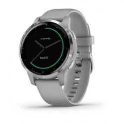 Ceas smartwatch Garmin Vivoactive 4S, Powder Gray/Silver - 010-02172-04