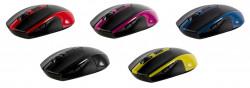 Mouse Wireless Serioux Pastel 600, USB, Galben - SRXM-PST600W-GR