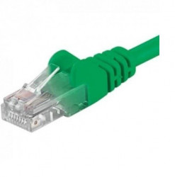 Patchcord UTP RJ45-RJ45 Cat.5e 2m verde, UTP-5E-2-GN, pachcord din cupru - UTP-5E-2-GN