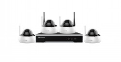 Kit Supraveghere 4 Camere Hikvision NK44W1H-1T(WD), CMOS, 4MP, IR 30M, DWDR, Wireless, IP66 + NVR, 4 canale, 1080P, HDD - NK44W1H-1T(WD)