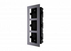 Rama montaj ingropat, 3 module, pentru Interfon modular - HIKVISION - DS-KD-ACF3