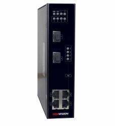 Switch 4 porturi PoE pentru mediu industrial Hikvision DS-3T0306P, L2, Unmanaged - DS-3T0306P