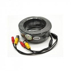 Cablu video si alimentare 20 metri LN-EC04-20M; conectori DC si BNC;Â Video Pow - LN-EC04-20M