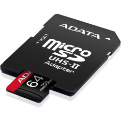 Card de memorie ADATA Endurance, MicroSDXC, 64GB, UHS-I V30, 100MB/s, Class 10 + Adaptor - AUSDX64GUI3V30SHA2