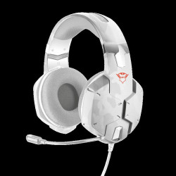 Casti cu microfon Trust GXT 322W Carus Gaming Headset - snow camo Specifications General Height of main product (in mm) 210 mm Width of main product (in mm) 215 mm Depth of main product (in mm) 110 mm Total weight 325 g Connectivity Connection type wired