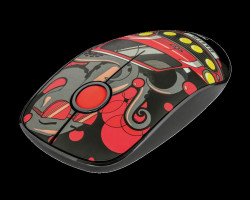 Mouse wireless Trust Sketch Silent, Rosu - TR-23336