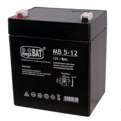 Acumulator VRLA AGM Megabat MB5-12 fara intretinere 5Ah 12V. terminal de conexiu - MB5-12