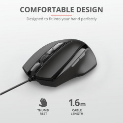 Mouse cu fir Trust Voca Comfort Mouse Specifications General Height of main pro - TR-23650