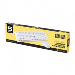 Kit wireless tastatura + mouse Serioux Retro, alb - SRX9910WH