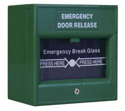 Buton iesire urgenta ND-EDR911-C, culoare verde, capac de protectie transparent - ND-EDR911-C