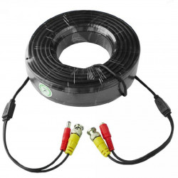 Cablu video si alimentare 15 metri LN-EC04-15M; conectori DC si BNC;Â Video Power: 26 AWG; Insulation: 1.3mm Colourless PE; Power Conductor: 21 AWG x 2C Red/Black ID: 1.35mmPVC; Outer Jacket: 4.4mm PVC Black - LN-EC04-15M