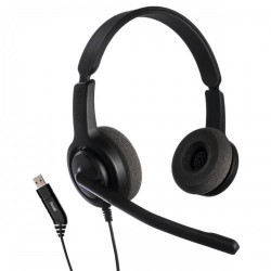 Casti cu microfon Axtel Voice USB28 duo NC, sunet HD, sistem anulare zgomot ambiental, USB, compatibil softphone - AXH-V28USBD
