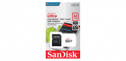 MicroSDHC, 32GB, Clasa 10, Reading speed: 100MB/s, + SD Adapter - SDSQUNR-032G-GN3MA