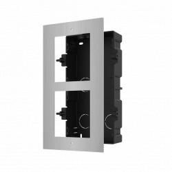 Panou frontal pentru 2 module de videointerfon modular Hikvision DS-KD- ACF2/S; - DS-KD-ACF2/S