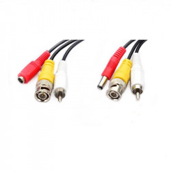 Cablu video cu alimentare siaudio 10 metri LN-EC04-10M-AUDIO; conectori: BNC - LN-EC04-10M-AUDIO