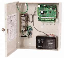 Centrala de acces Honeywell NetAXS-123 NX2MPS suporta4cititoarepentru2usi, contine cutie metalica cu sursa si acumulatordebackup. 2-doorNetAXS-123 controller in small metal enclosure withinbuilt powersupply unit and backup battery. Networkable on RS-485 ,