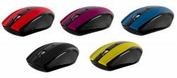 Mouse Wireless Serioux Rainbow 400, USB, Purple - SRXM-RBM400W-PP