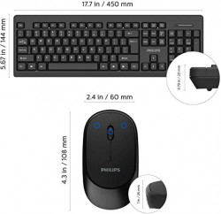 Philips SPT6324B Wireless keyboard-mouse Technical specifications • Product T - SPT6324B