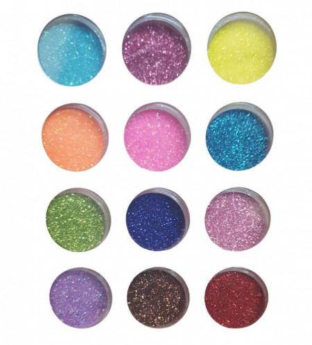 Sclipici fin 12 culori - EM12