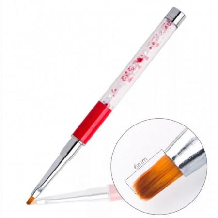 Poze Pensula cu cristale G16-5- N4 Red