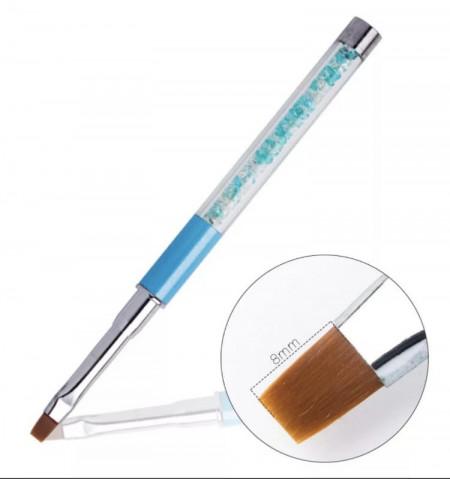 Pensula cu cristale G16-5- N4 Bleu