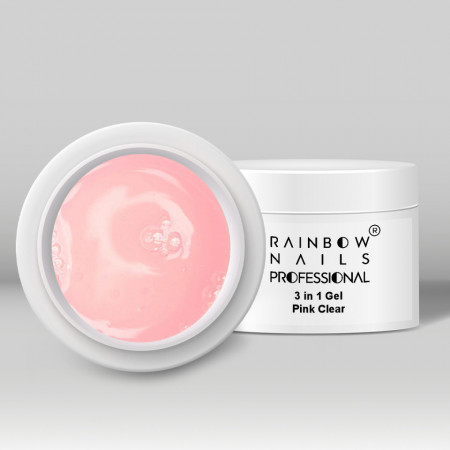 Gel 3 in 1 Rainbow Nails Professional - Pink Clear 50 ml