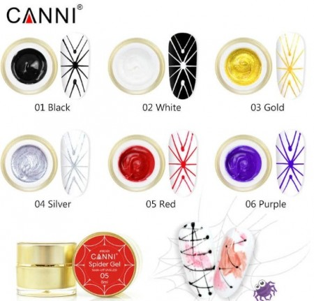 Poze Spider Gel Canni - purple - 5g