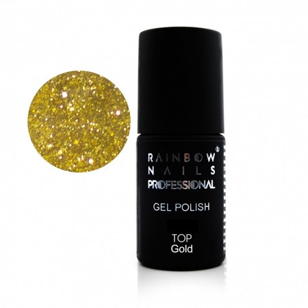 Poze Top Gold Rainbow Nails Professional - 6g