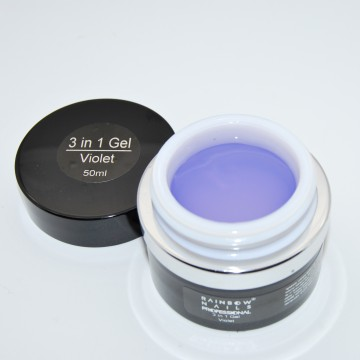 Poze Gel Rainbow Nails Professional 3 in 1 Violet - 50 ml