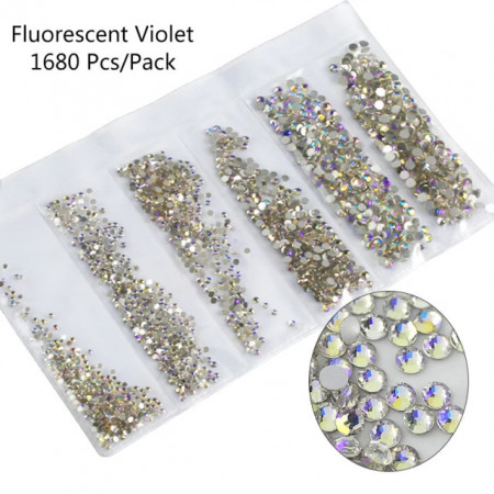 Cristale 6 marimi Fluorescent Violet - EM6