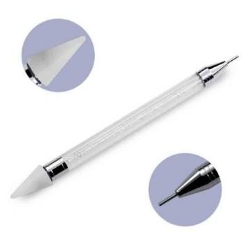 Instrument dublu pentru aplicarea cristalelor