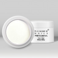 Gel Rainbow - White Milky - 15 ml (alb laptos)