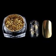 Pudra cu efect oglinda platinum -G518 gold