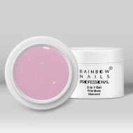 Gel 3 in 1 Rainbow Nails Professional - Pink Mask Diamond 15 ml