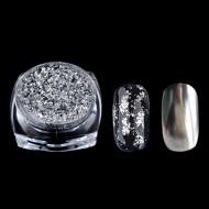Pudra cu efect oglinda platinum -G518 silver