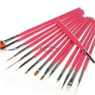 Pensule set 15 - pink