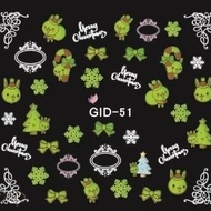 Sticker pe baza de apa - luminiscent (glow in the dark) GID 051